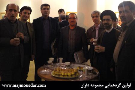 از راست به چپ:سرهنگ زارعی،حجه الاسلام و المسلمین اشکوری،استاد آشتیانی
